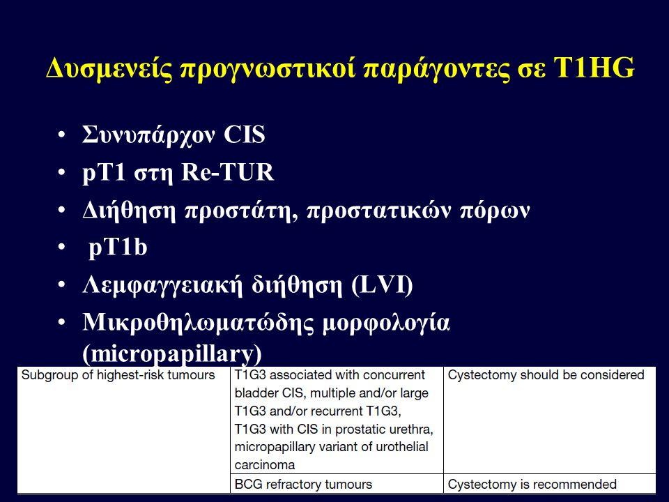Δυσμενείς προγνωστικοί παράγοντες σε T1HG