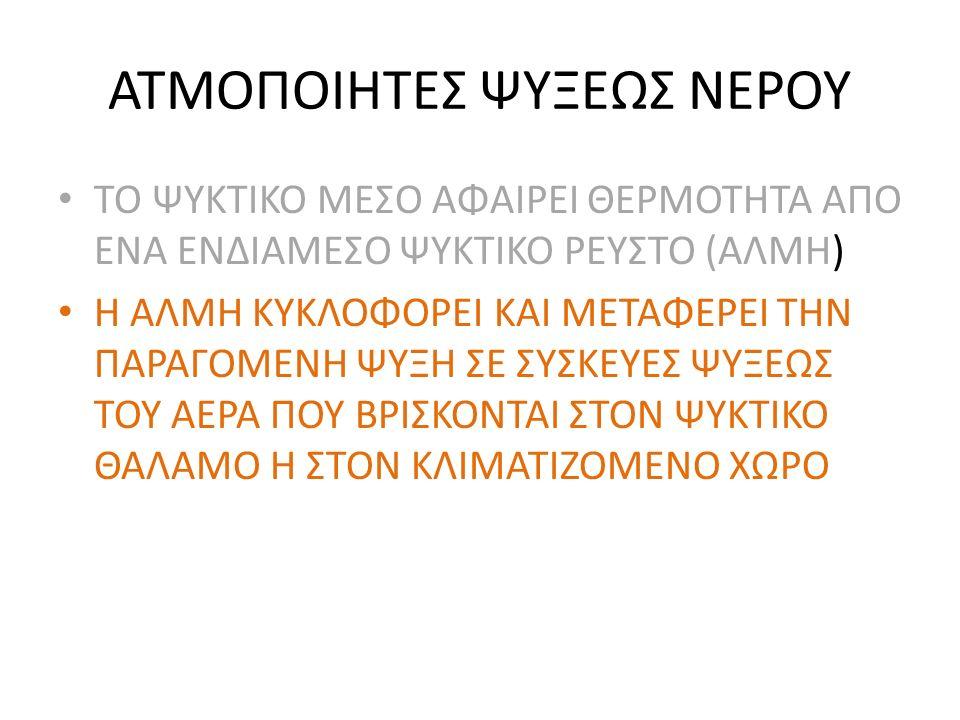 ΑΤΜΟΠΟΙΗΤΕΣ ΨΥΞΕΩΣ ΝΕΡΟΥ