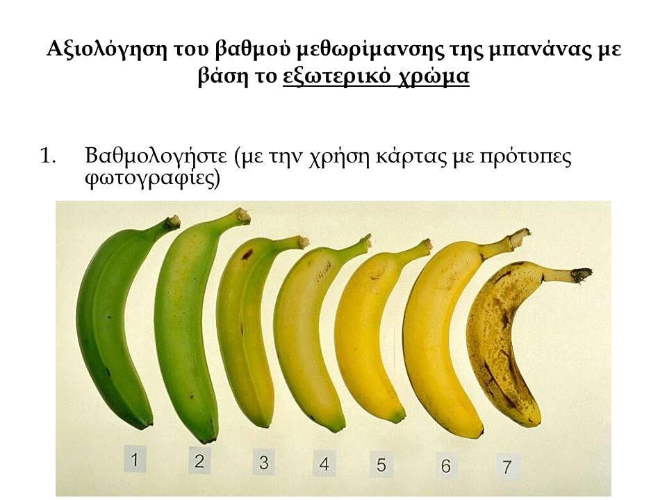 Αξιολόγηση του βαθμού μεθωρίμανσης της μπανάνας με βάση το εξωτερικό χρώμα