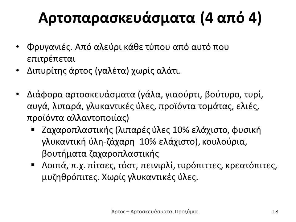 Αρτοπαρασκευάσματα (4 από 4)