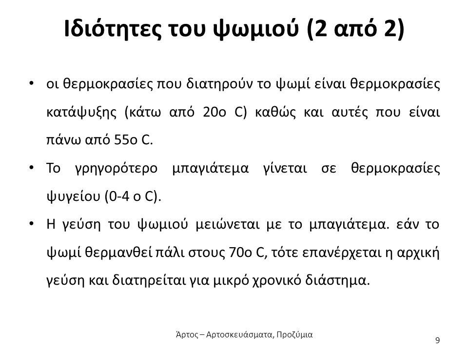 Ιδιότητες του ψωμιού (2 από 2)