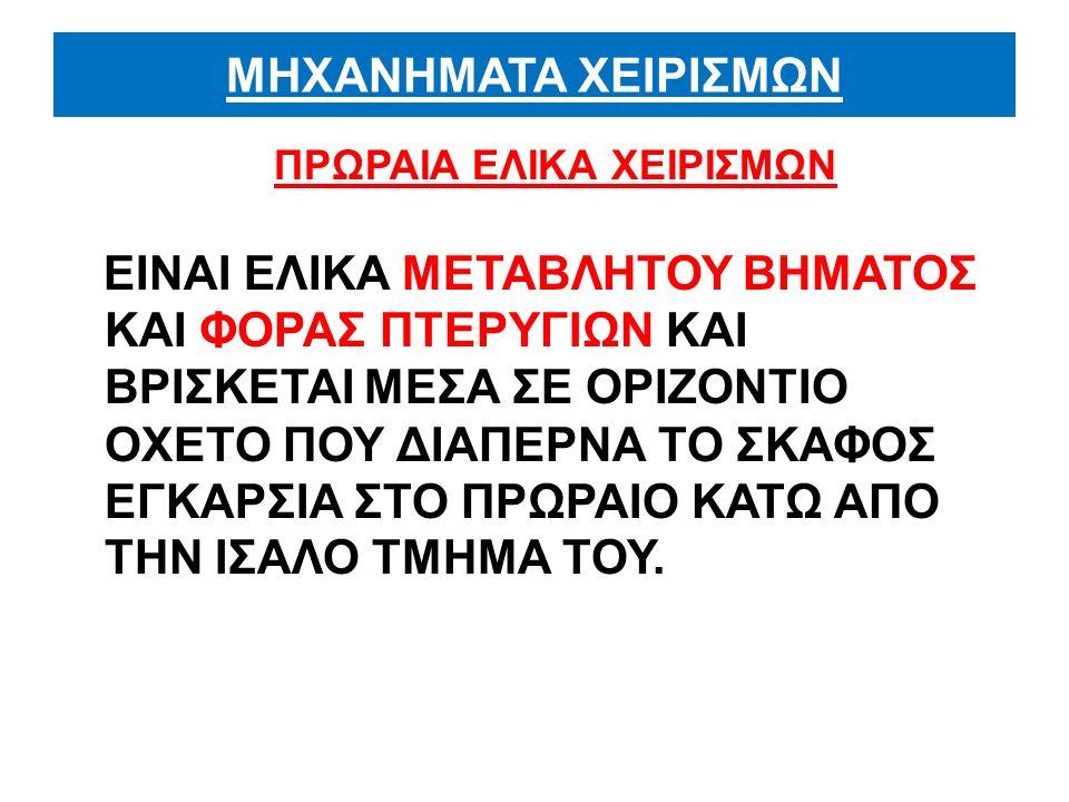ΠΡΩΡΑΙΑ ΕΛΙΚΑ ΧΕΙΡΙΣΜΩΝ