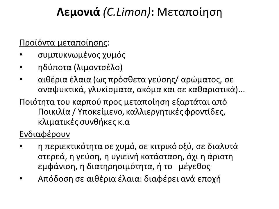 Λεμονιά (C.Limon): Μεταποίηση
