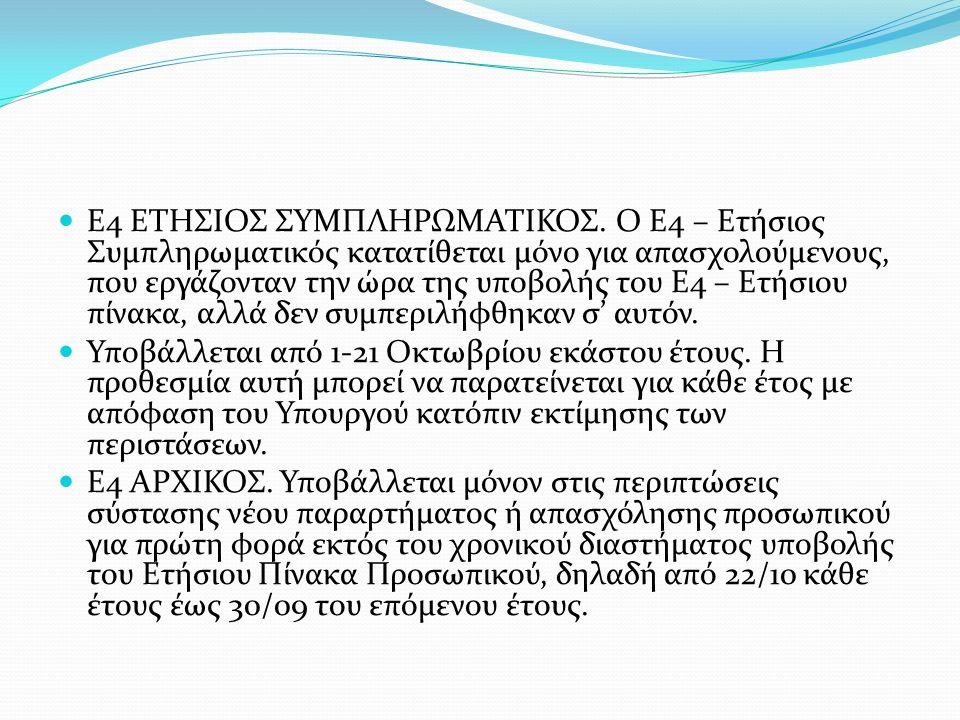 E4 ΕΤΗΣΙΟΣ ΣΥΜΠΛΗΡΩΜΑΤΙΚΟΣ
