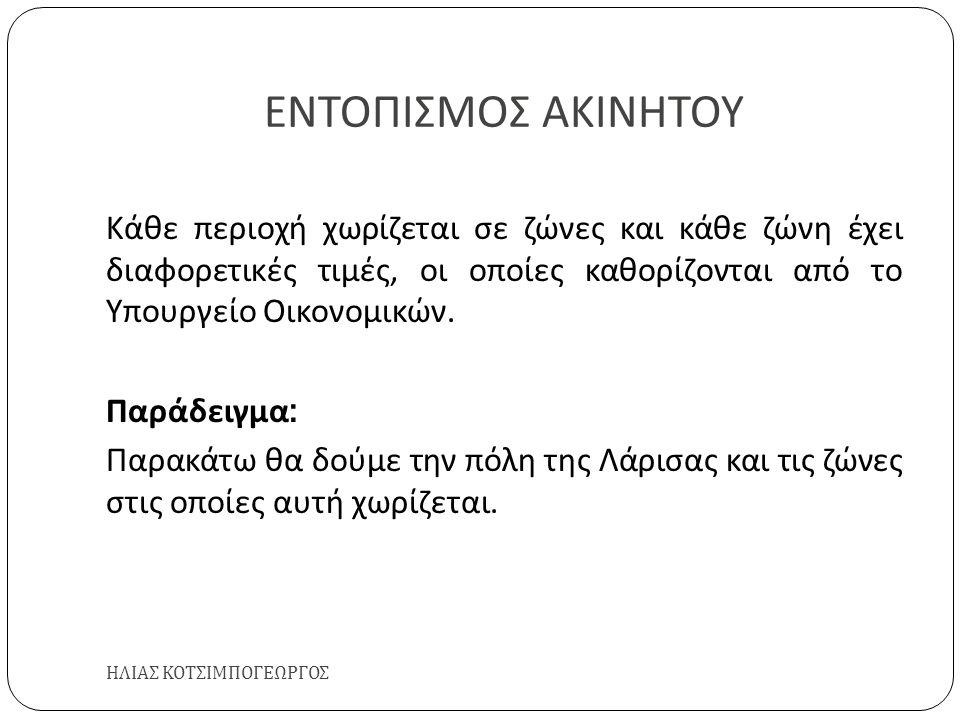 ΕΝΤΟΠΙΣΜΟΣ ΑΚΙΝΗΤΟΥ