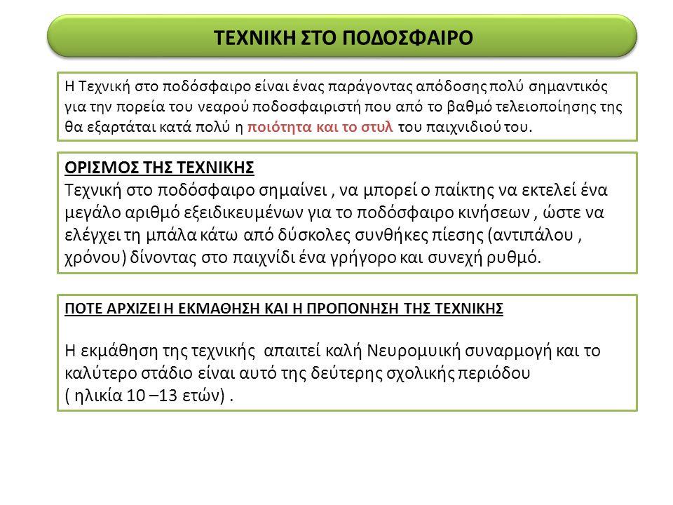 ΤΕΧΝΙΚΗ ΣΤΟ ΠΟΔΟΣΦΑΙΡΟ