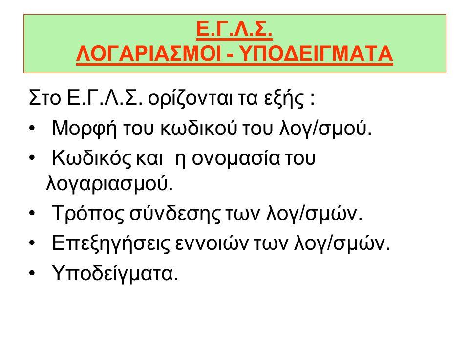 Ε.Γ.Λ.Σ. ΛΟΓΑΡΙΑΣΜΟΙ - ΥΠΟΔΕΙΓΜΑΤΑ
