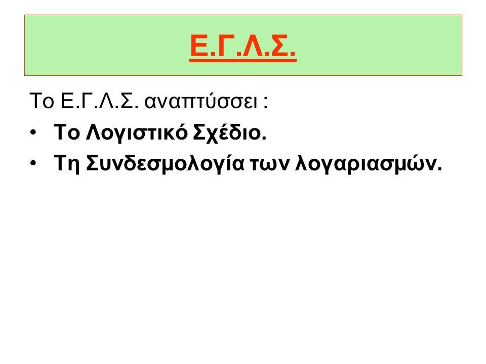 Ε.Γ.Λ.Σ. Το Ε.Γ.Λ.Σ. αναπτύσσει : Το Λογιστικό Σχέδιο.