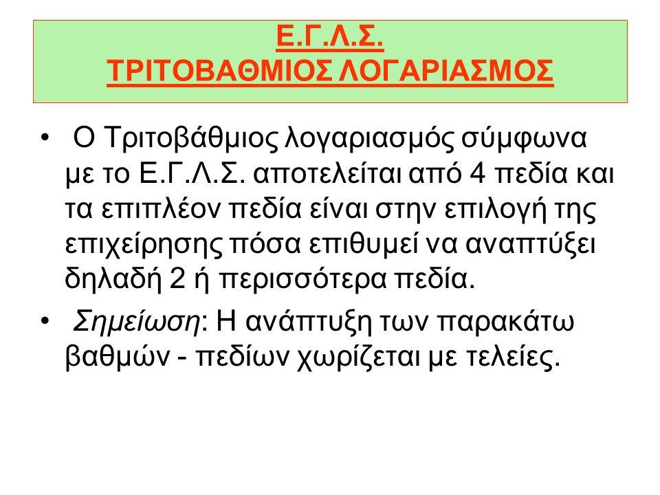 Ε.Γ.Λ.Σ. ΤΡΙΤΟΒΑΘΜΙΟΣ ΛΟΓΑΡΙΑΣΜΟΣ