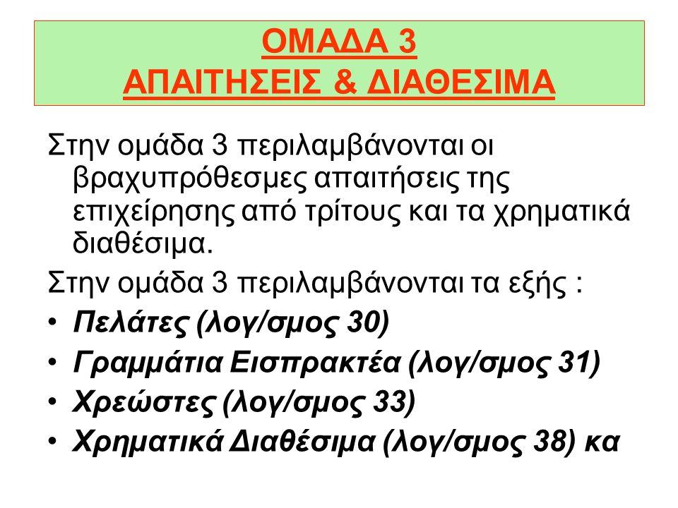 ΟΜΑΔΑ 3 ΑΠΑΙΤΗΣΕΙΣ & ΔΙΑΘΕΣΙΜΑ