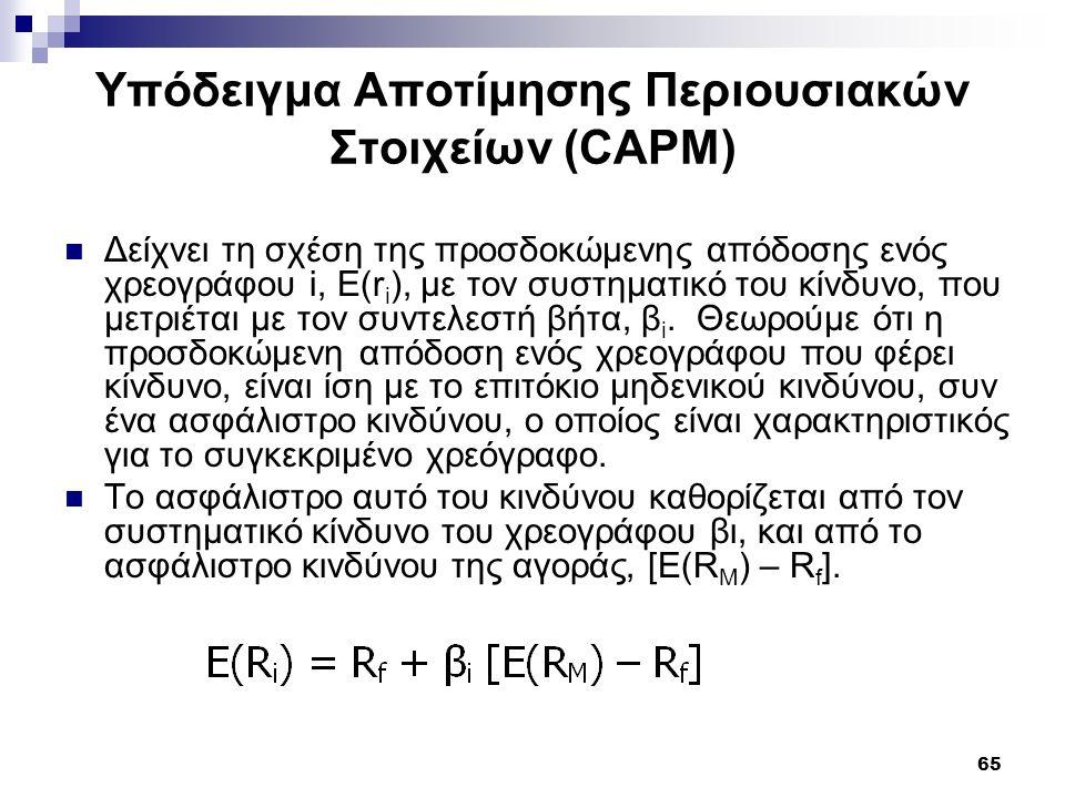 Υπόδειγμα Αποτίμησης Περιουσιακών Στοιχείων (CAPM)