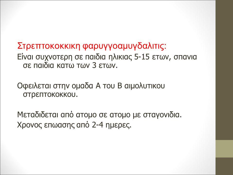 Στρεπτοκοκκικη φαρυγγοαμυγδαλιτις: