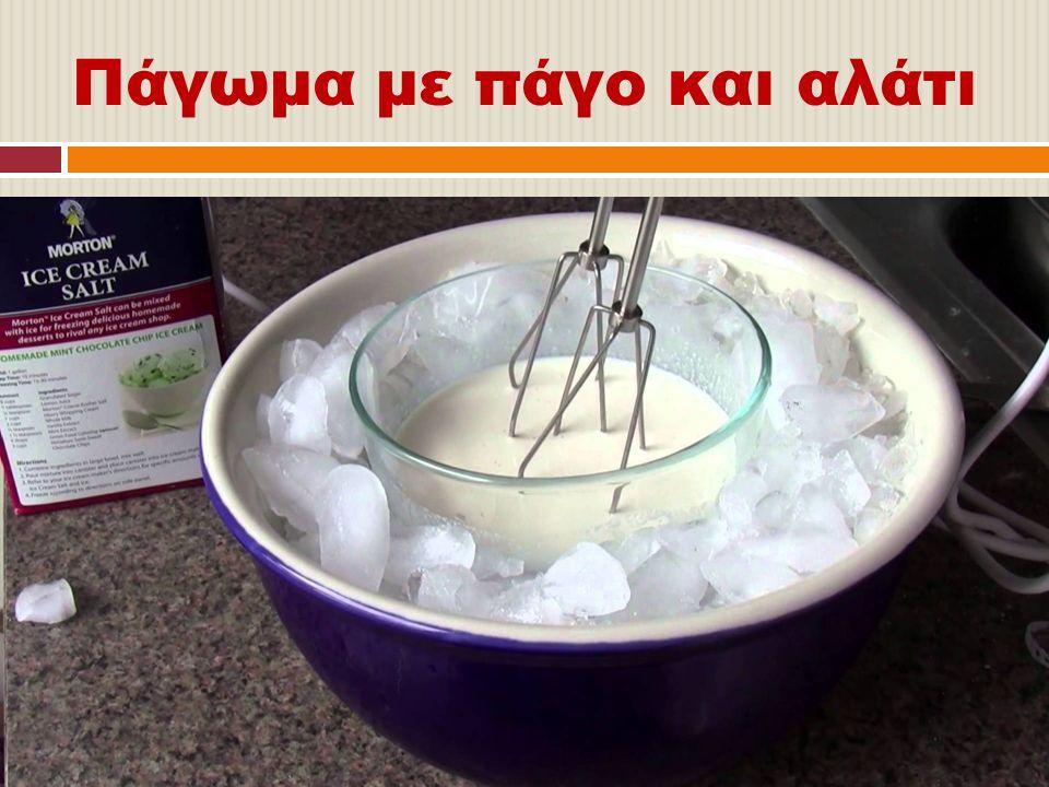 Πάγωμα με πάγο και αλάτι
