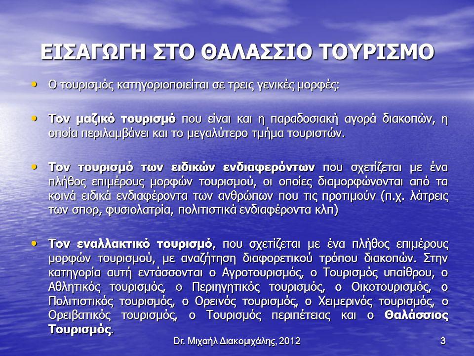 ΕΙΣΑΓΩΓΗ ΣΤΟ ΘΑΛΑΣΣΙΟ ΤΟΥΡΙΣΜΟ