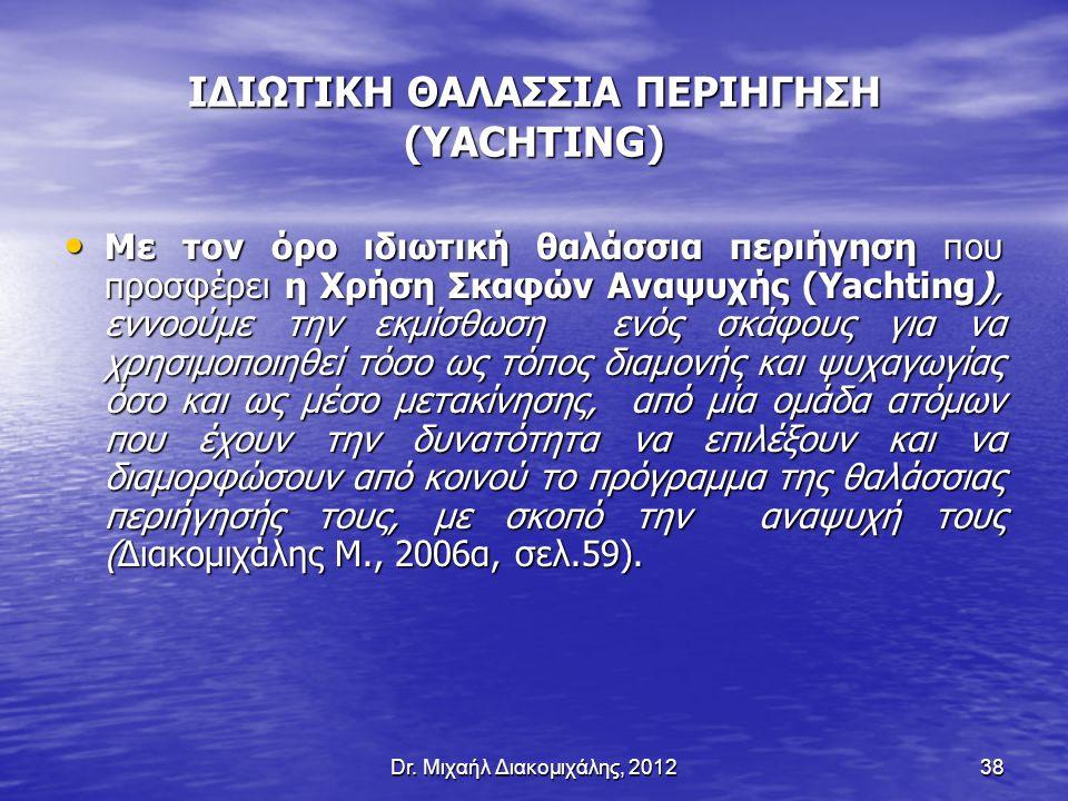 ΙΔΙΩΤΙΚΗ ΘΑΛΑΣΣΙΑ ΠΕΡΙΗΓΗΣΗ (YACHTING)