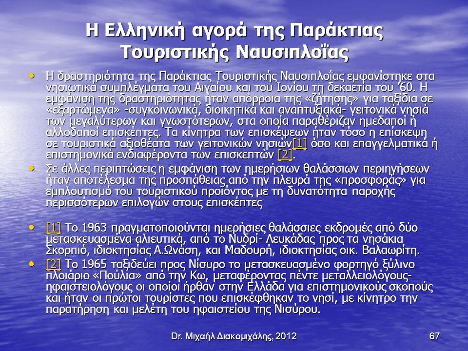 Η Ελληνική αγορά της Παράκτιας Τουριστικής Ναυσιπλοΐας
