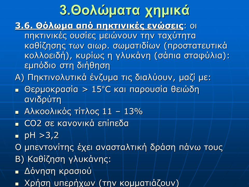 3.Θολώματα χημικά