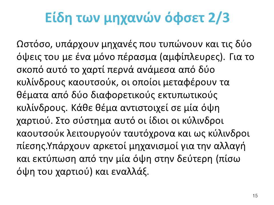 Είδη των μηχανών όφσετ 3/3
