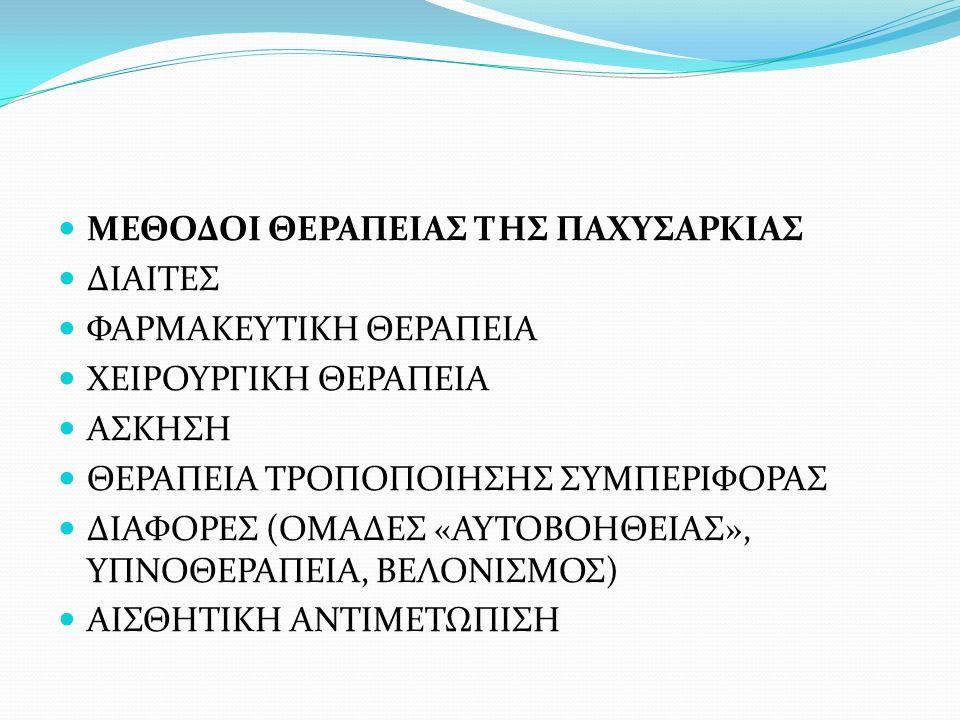 ΜΕΘΟΔΟΙ ΘΕΡΑΠΕΙΑΣ ΤΗΣ ΠΑΧΥΣΑΡΚΙΑΣ