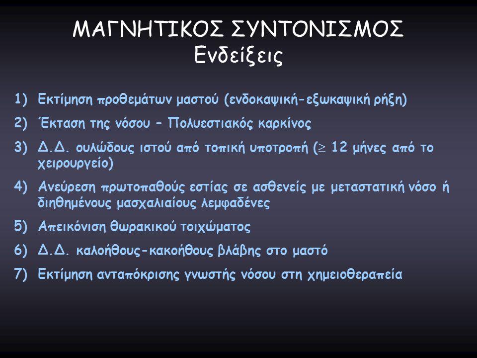 ΜΑΓΝΗΤΙΚΟΣ ΣΥΝΤΟΝΙΣΜΟΣ Ενδείξεις
