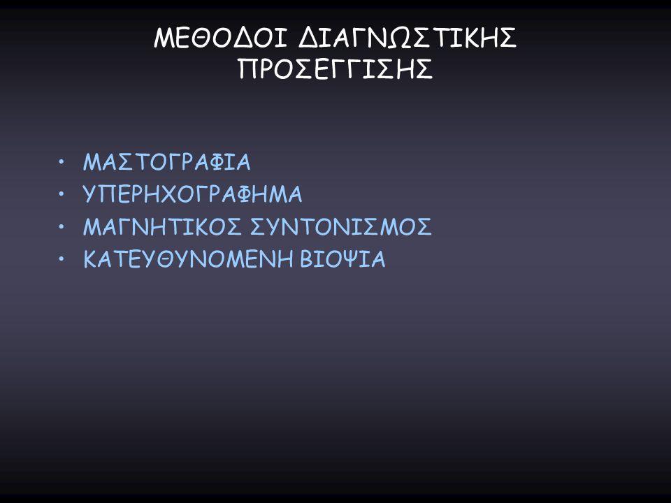 ΜΕΘΟΔΟΙ ΔΙΑΓΝΩΣΤΙΚΗΣ ΠΡΟΣΕΓΓΙΣΗΣ