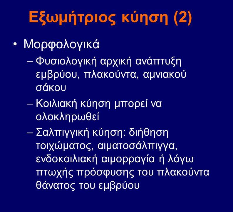Εξωμήτριος κύηση (2) Μορφολογικά