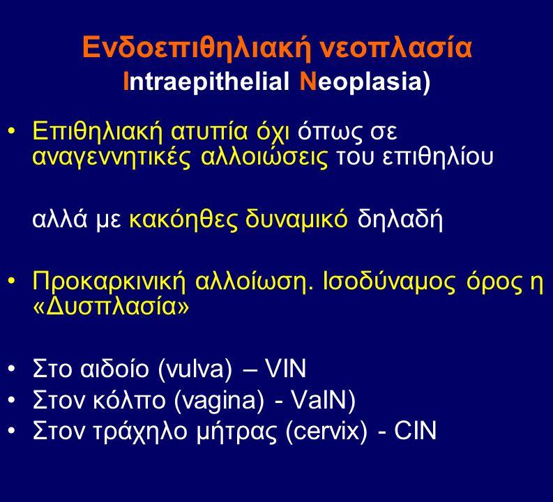 Eνδοεπιθηλιακή νεοπλασία Intraepithelial Neoplasia)