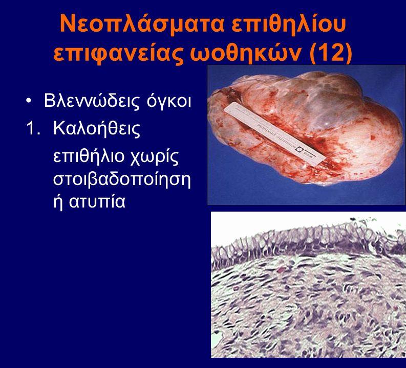 Νεοπλάσματα επιθηλίου επιφανείας ωοθηκών (12)