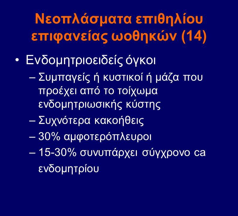 Νεοπλάσματα επιθηλίου επιφανείας ωοθηκών (14)