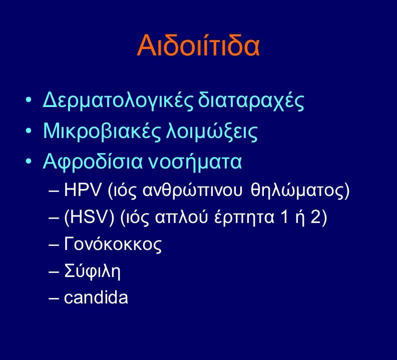 Αιδοιίτιδα Δερματολογικές διαταραχές Μικροβιακές λοιμώξεις