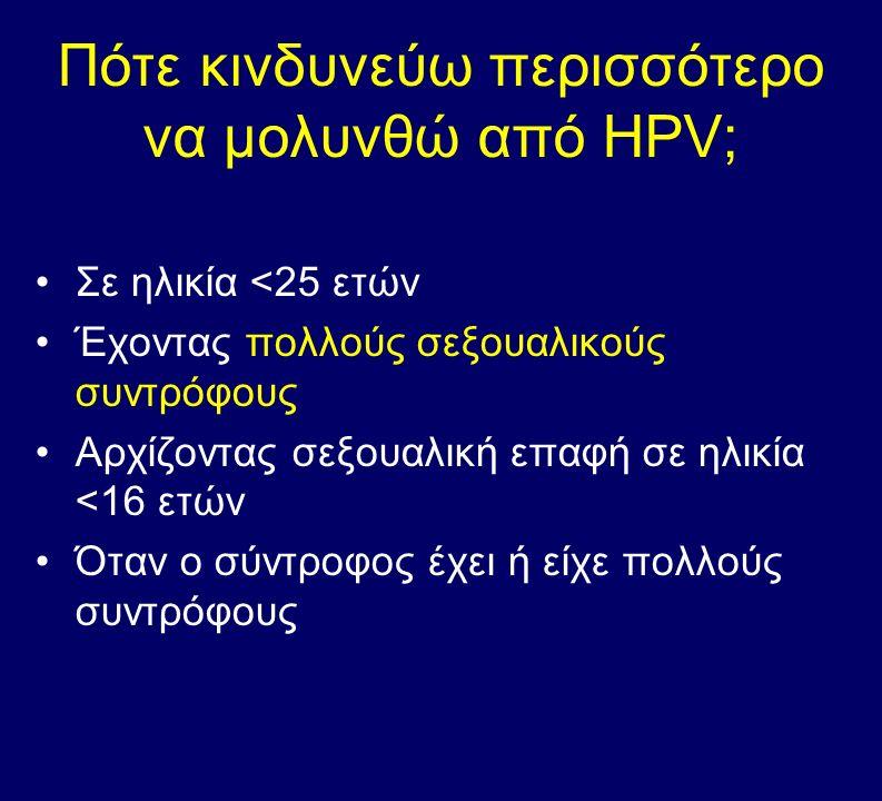 Πότε κινδυνεύω περισσότερο να μολυνθώ από HPV;