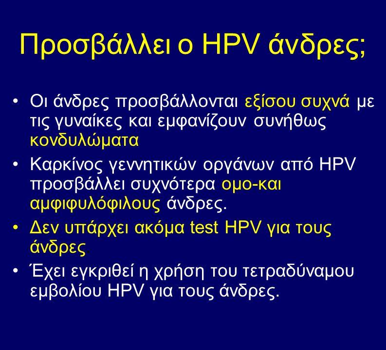 Προσβάλλει ο HPV άνδρες;