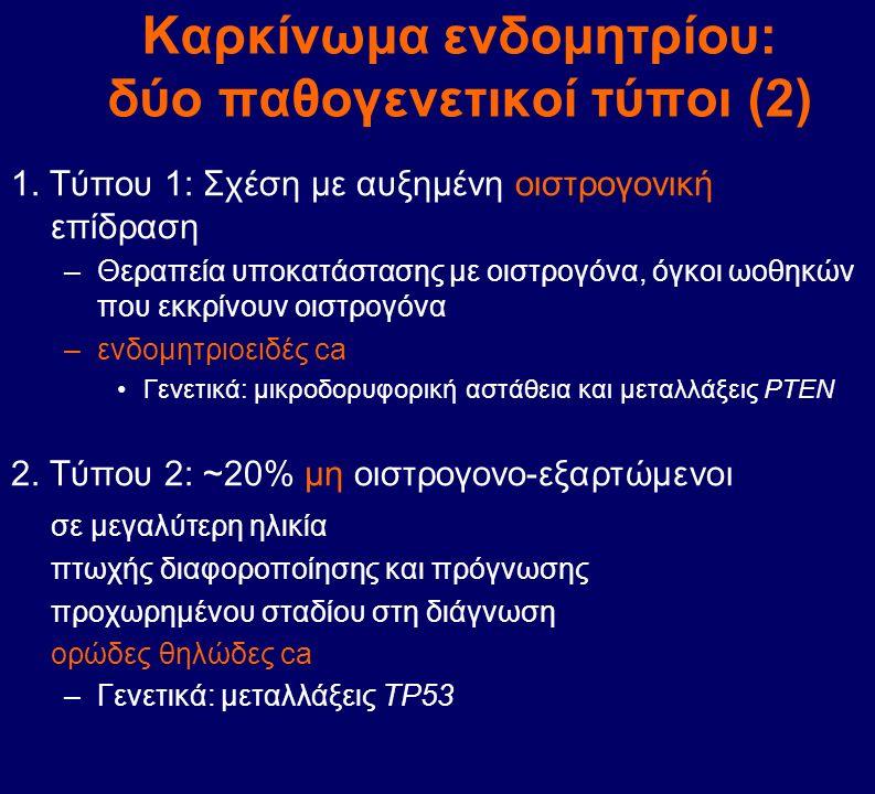 Καρκίνωμα ενδομητρίου: δύο παθογενετικοί τύποι (2)