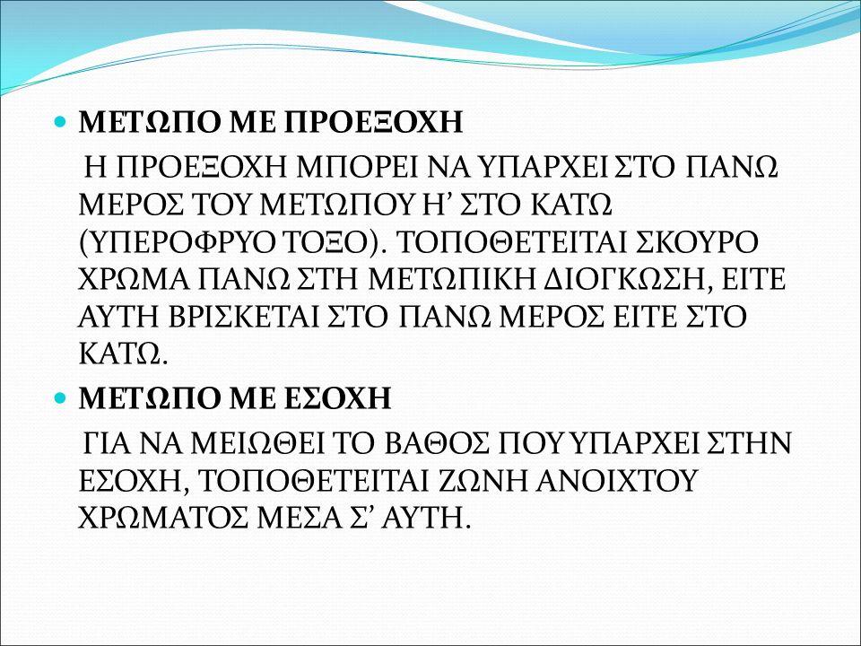 ΜΕΤΩΠΟ ΜΕ ΠΡΟΕΞΟΧΗ