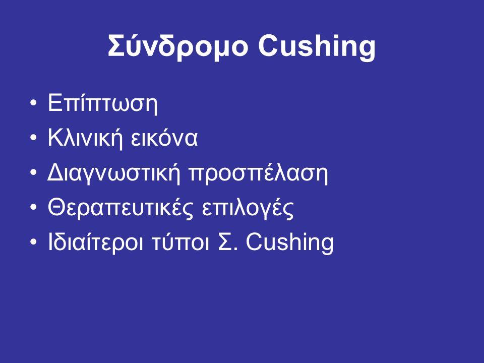 Σύνδρομο Cushing Επίπτωση Κλινική εικόνα Διαγνωστική προσπέλαση