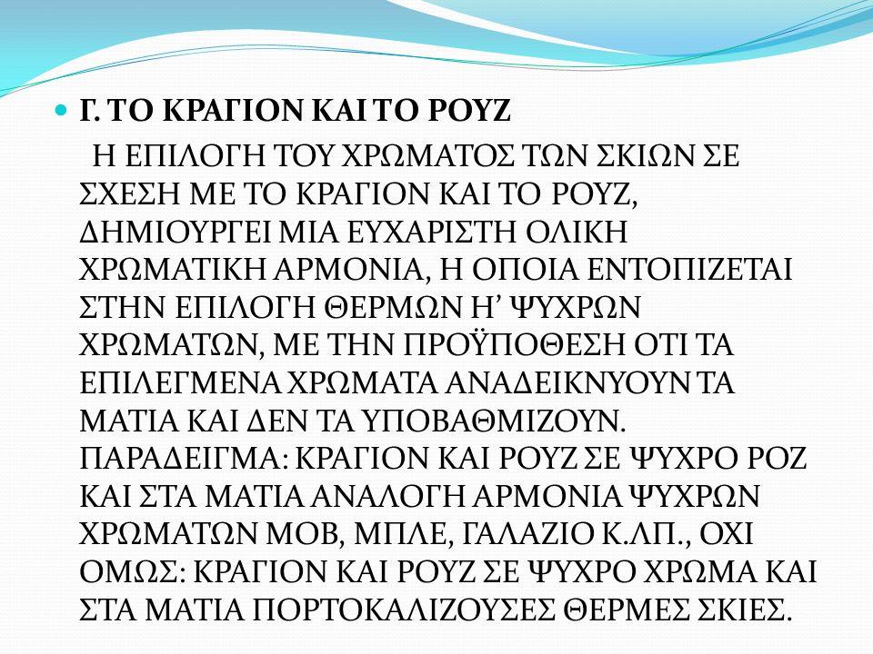 Γ. ΤΟ ΚΡΑΓΙΟΝ ΚΑΙ ΤΟ ΡΟΥΖ
