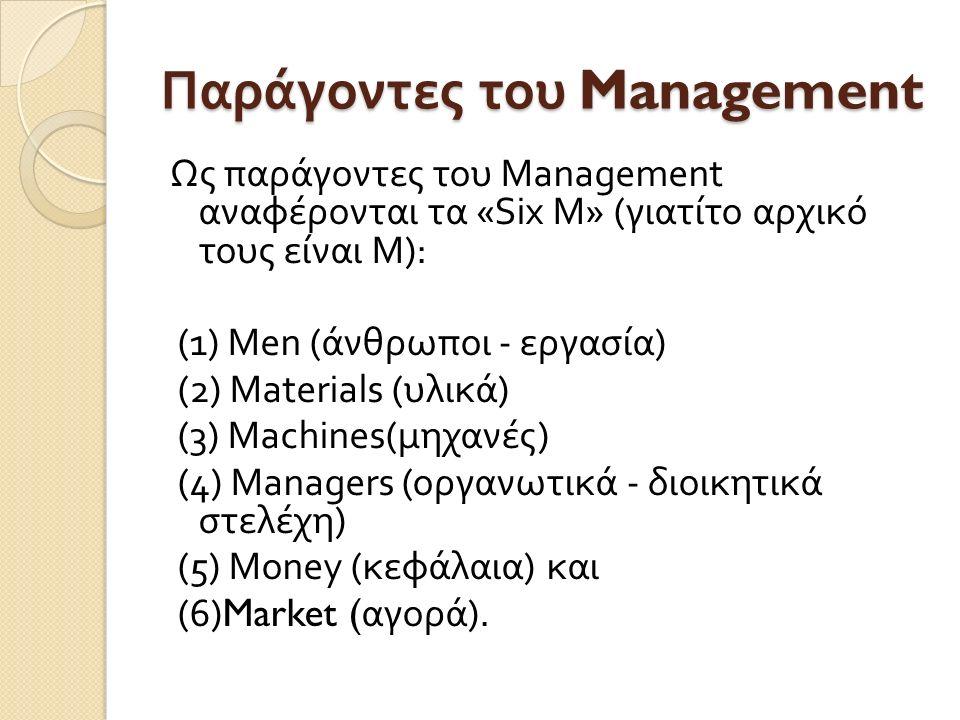 Παράγοντες του Management