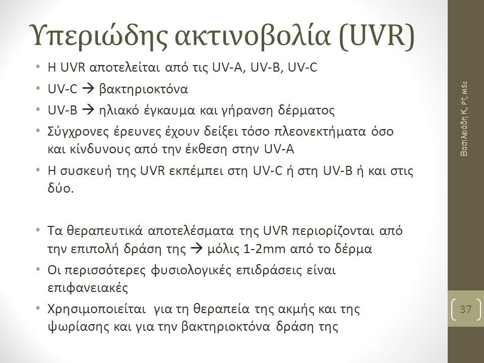 Υπεριώδης ακτινοβολία (UVR)