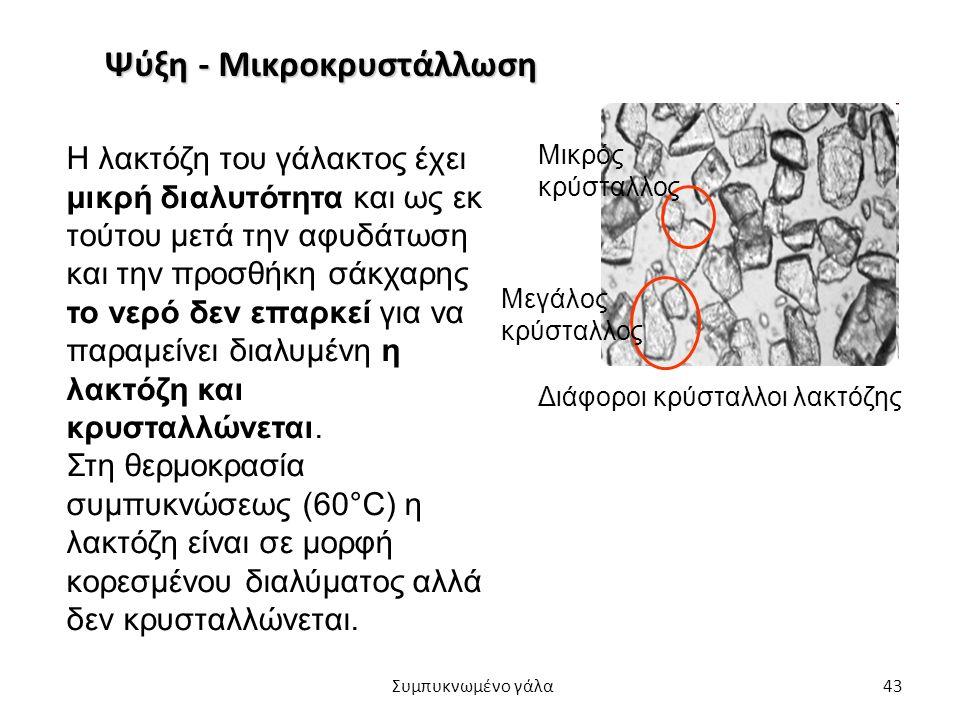 Ψύξη - Μικροκρυστάλλωση