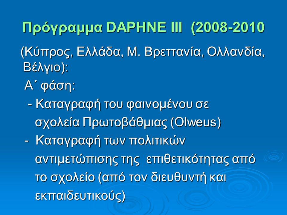 Πρόγραμμα DAPHNE III (2008-2010