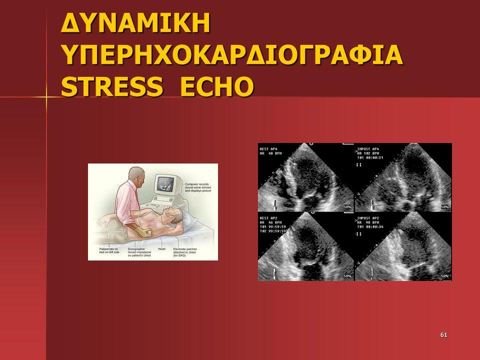 ΔΥΝΑΜΙΚΗ ΥΠΕΡΗΧΟΚΑΡΔΙΟΓΡΑΦΙΑ STRESS ECHO