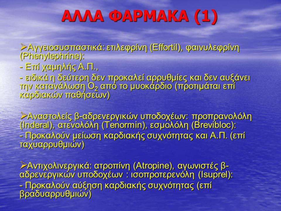 AΛΛΑ ΦΑΡΜΑΚΑ (1) - Επί χαμηλής Α.Π.,