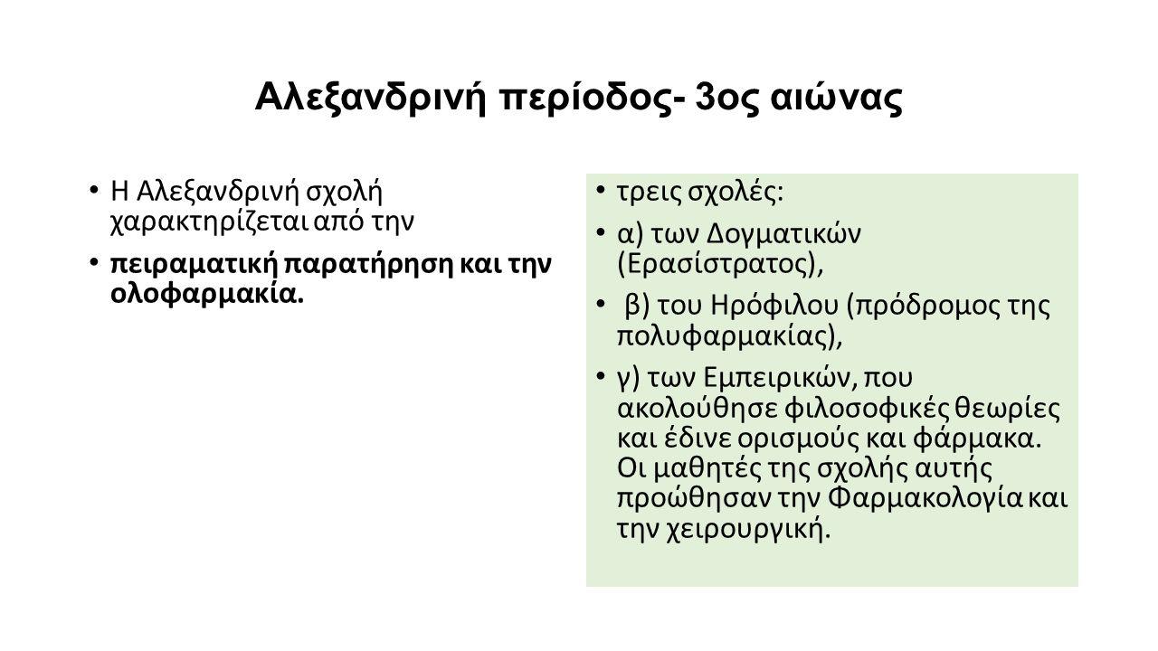 Αλεξανδρινή περίοδος- 3ος αιώνας