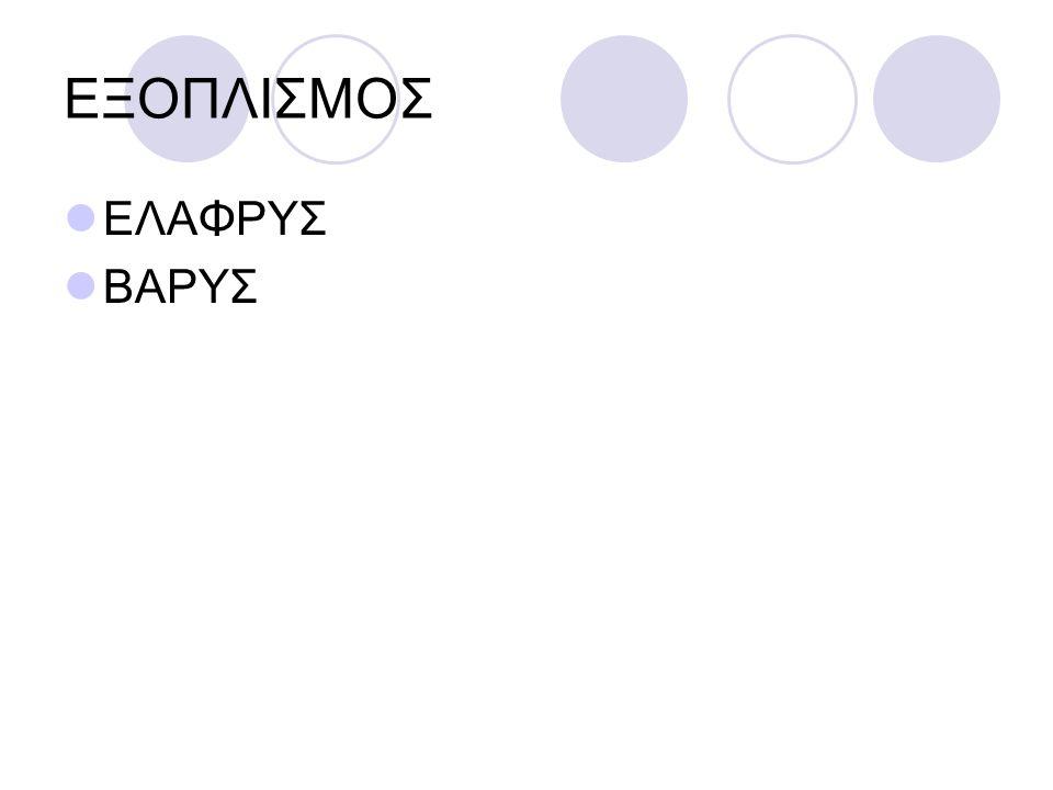 ΕΞΟΠΛΙΣΜΟΣ ΕΛΑΦΡΥΣ ΒΑΡΥΣ