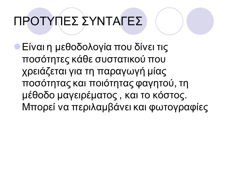 ΠΡΟΤΥΠΕΣ ΣΥΝΤΑΓΕΣ