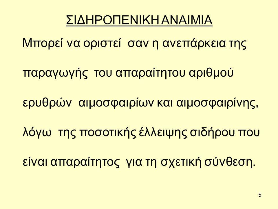 ΣΙΔΗΡΟΠΕΝΙΚΗ ΑΝΑΙΜΙΑ
