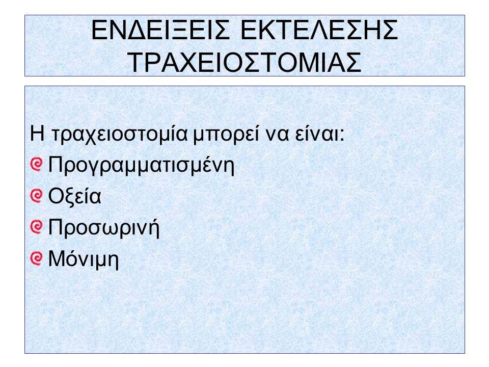ΕΝΔΕΙΞΕΙΣ ΕΚΤΕΛΕΣΗΣ ΤΡΑΧΕΙΟΣΤΟΜΙΑΣ