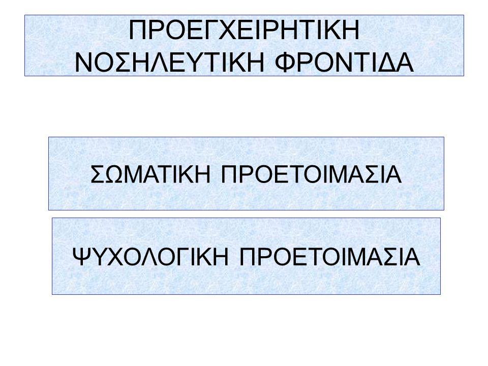 ΠΡΟΕΓΧΕΙΡΗΤΙΚΗ ΝΟΣΗΛΕΥΤΙΚΗ ΦΡΟΝΤΙΔΑ