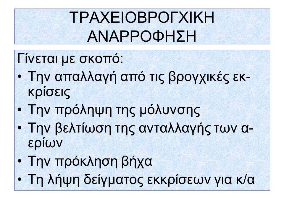 ΤΡΑΧΕΙΟΒΡΟΓΧΙΚΗ ΑΝΑΡΡΟΦΗΣΗ