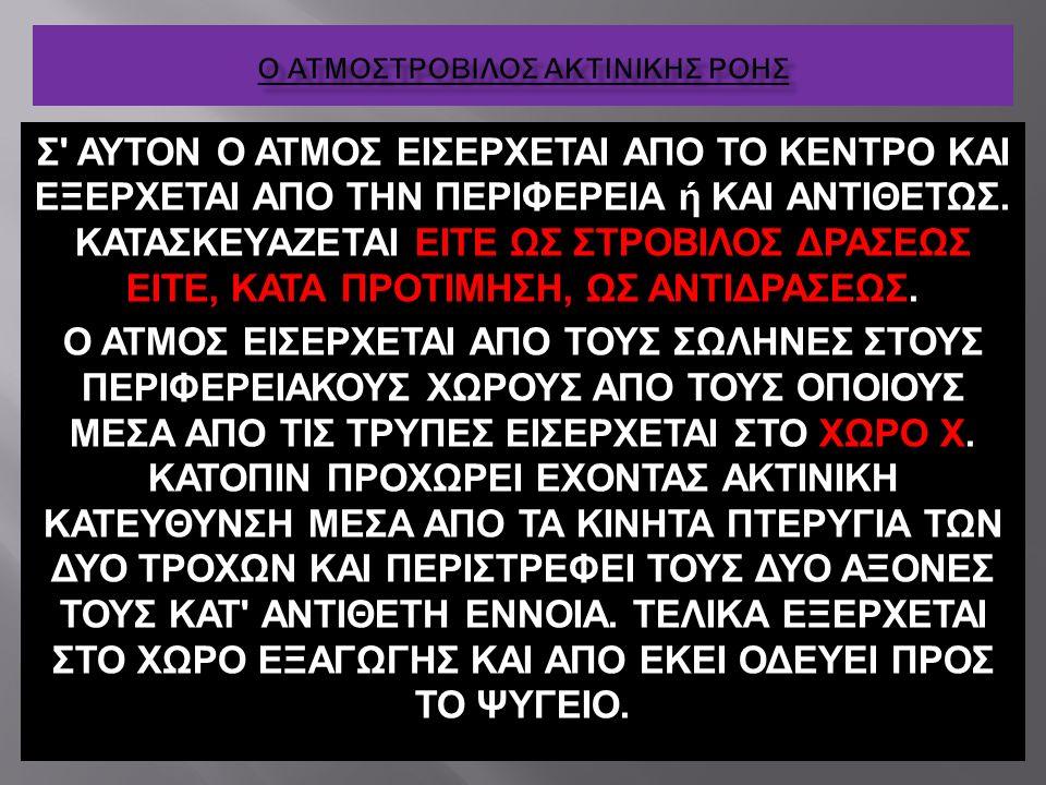Ο ΑΤΜΟΣΤΡΟΒΙΛΟΣ ΑΚΤΙΝΙΚΗΣ ΡΟΗΣ